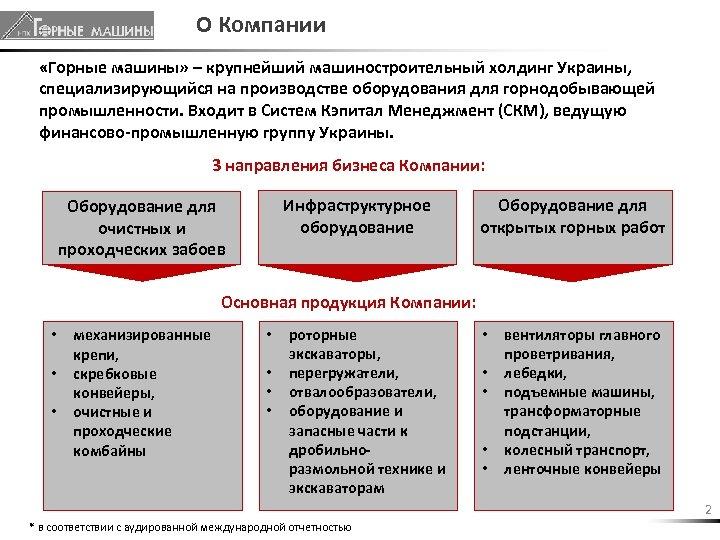 О Компании «Горные машины» – крупнейший машиностроительный холдинг Украины, специализирующийся на производстве оборудования для