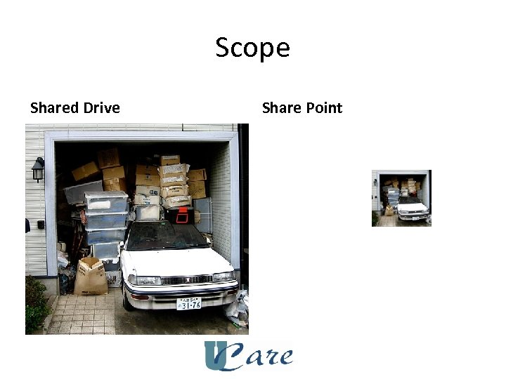 Scope Shared Drive Share Point