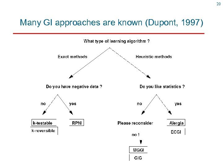 20 Many GI approaches are known (Dupont, 1997)