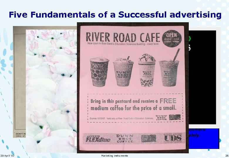 Five Fundamentals of a Successful advertising It should attract attention. It should emphasize a