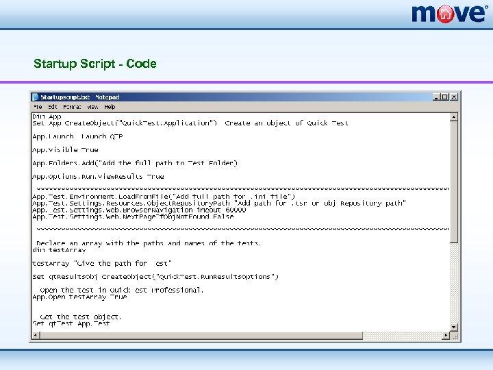 Startup Script - Code