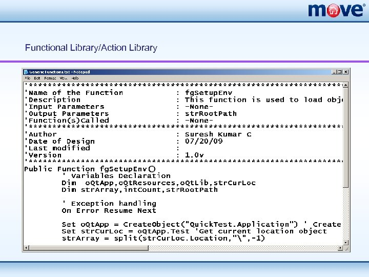 Functional Library/Action Library