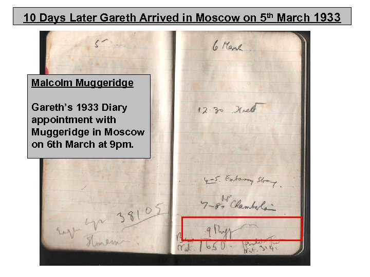 10 Days Later Gareth Arrived in Moscow on 5 th March 1933 Malcolm Muggeridge