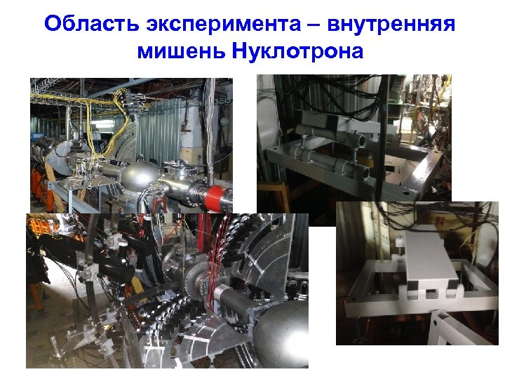 Область эксперимента – внутренняя мишень Нуклотрона DSS-SCAN-3
