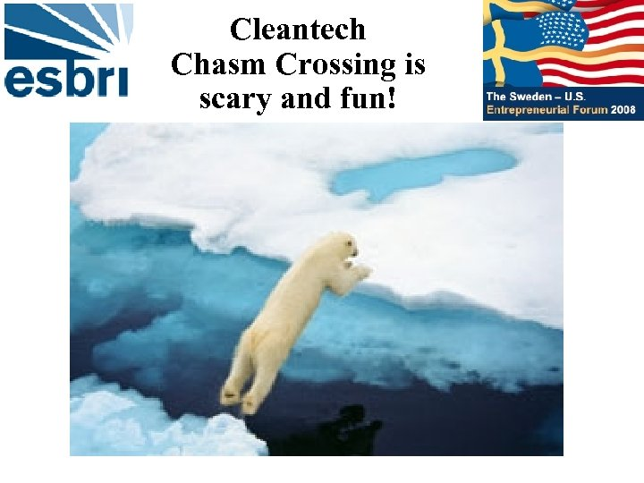 Cleantech Chasm Crossing is scary and fun!