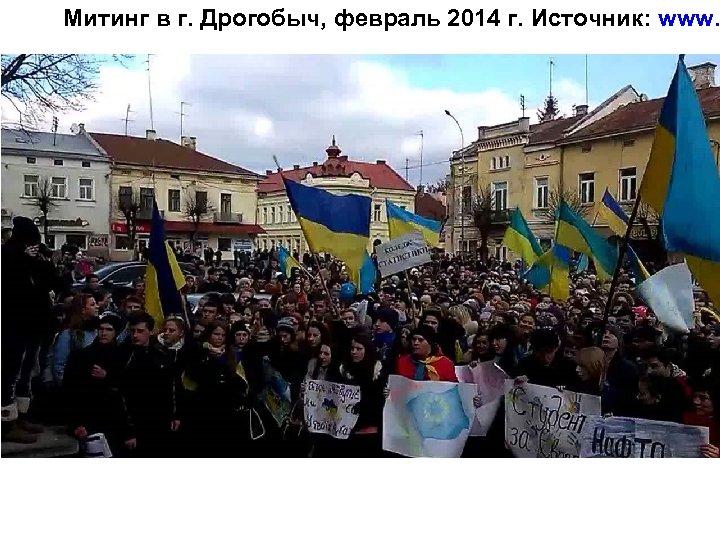 Митинг в г. Дрогобыч, февраль 2014 г. Источник: www.