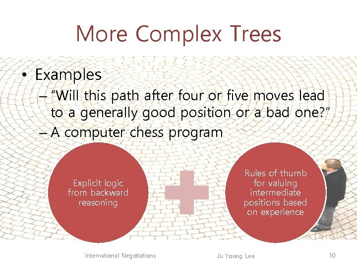 """More Complex Trees • Examples – """"Will this path after four or five moves"""