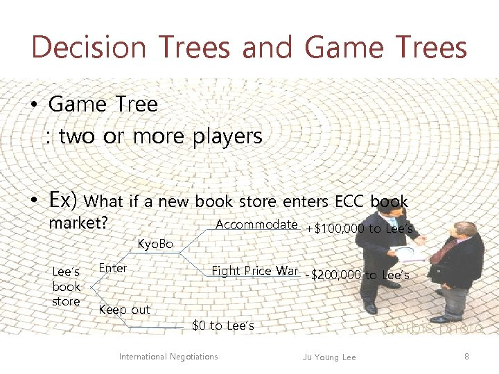 Decision Trees and Game Trees • Game Tree : two or more players •