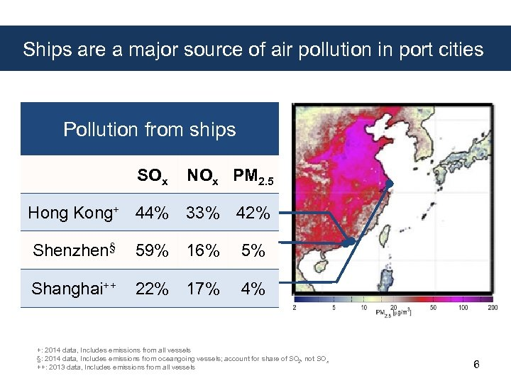 Ships are a major source of air pollution in port cities Pollution from ships