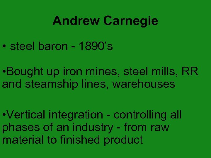 Big Business In The Early 20 Th Century