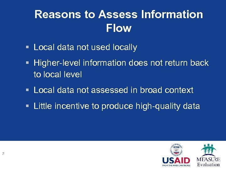 Reasons to Assess Information Flow § Local data not used locally § Higher-level information