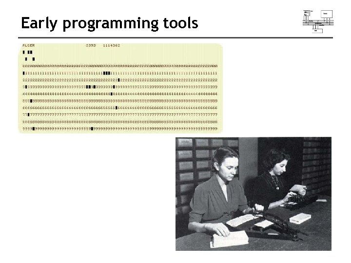 Early programming tools