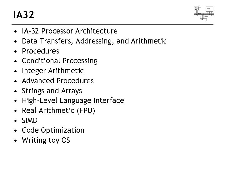 IA 32 • • • IA-32 Processor Architecture Data Transfers, Addressing, and Arithmetic Procedures