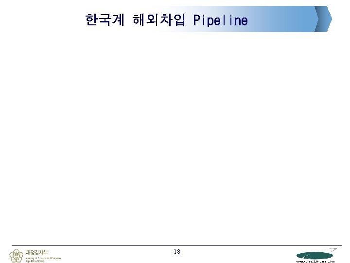 한국계 해외차입 Pipeline 18