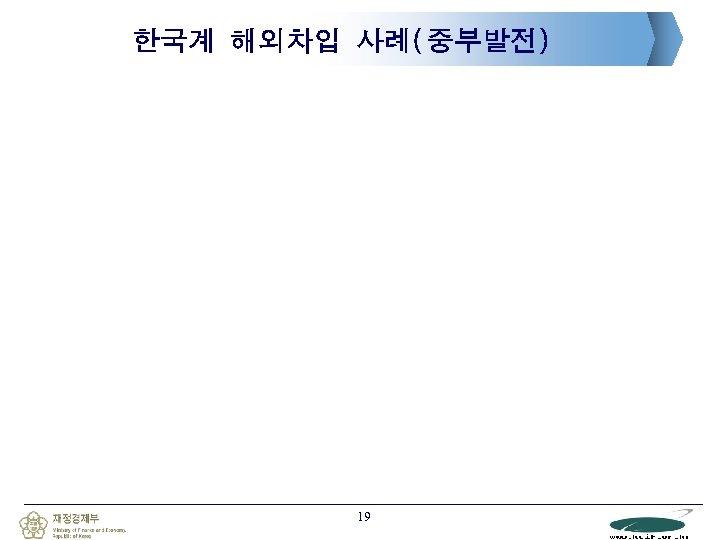 한국계 해외차입 사례(중부발전) 19
