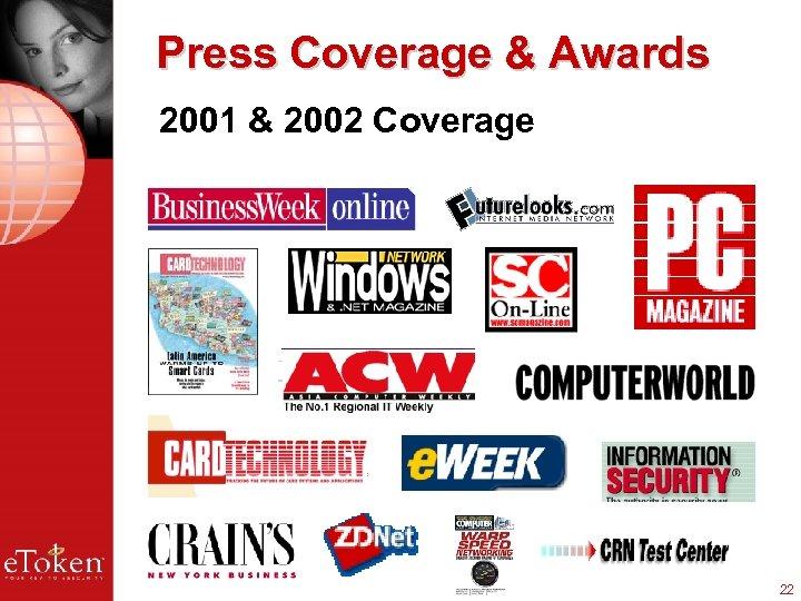 Press Coverage & Awards 2001 & 2002 Coverage 22