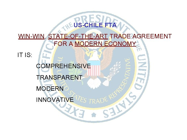 United States Chile Free Trade Agreement Executive