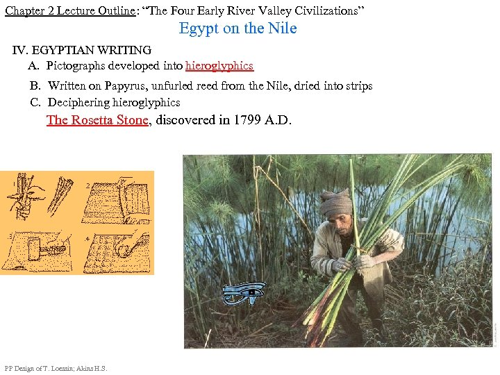 "Chapter 2 Lecture Outline: ""The Four Early River Valley Civilizations"" Egypt on the Nile"