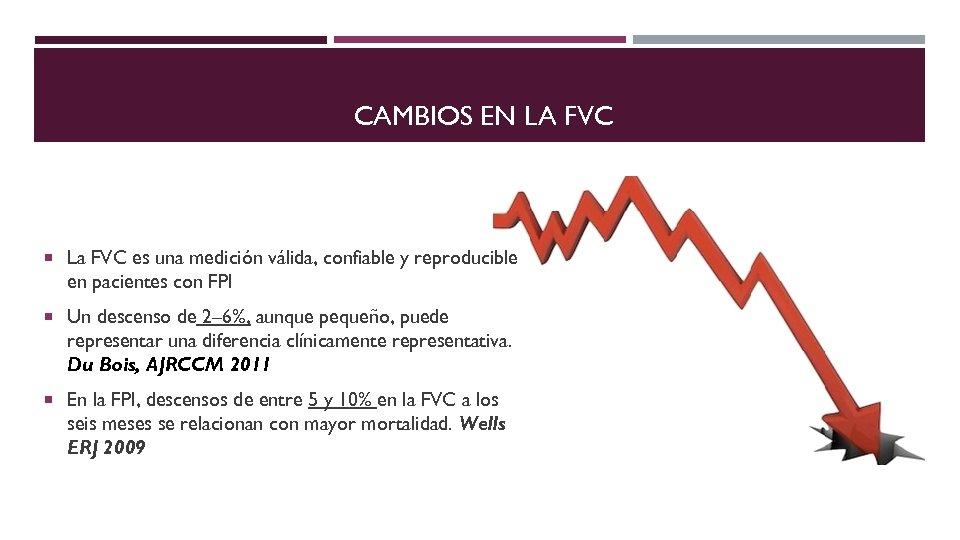 CAMBIOS EN LA FVC La FVC es una medición válida, confiable y reproducible en
