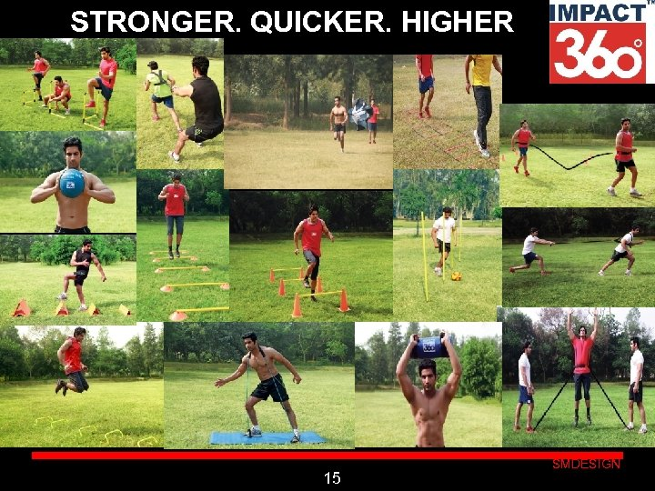 STRONGER. QUICKER. HIGHER Click to edit Master subtitle style 15 SMDESIGN