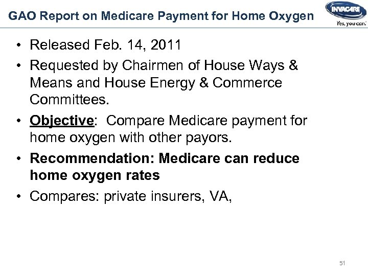 GAO Report on Medicare Payment for Home Oxygen • Released Feb. 14, 2011 •