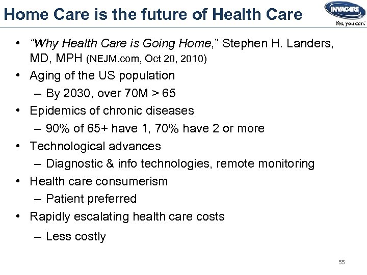 """Home Care is the future of Health Care • """"Why Health Care is Going"""