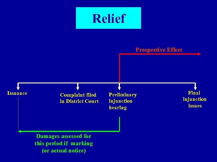Relief Prospective Effect Issuance Complaint filed in District Court Damages assessed for this period