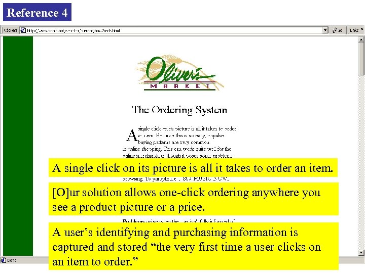 Reference 4 A single click on its picture is all it takes to order