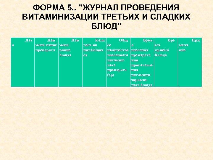 ФОРМА 5. .