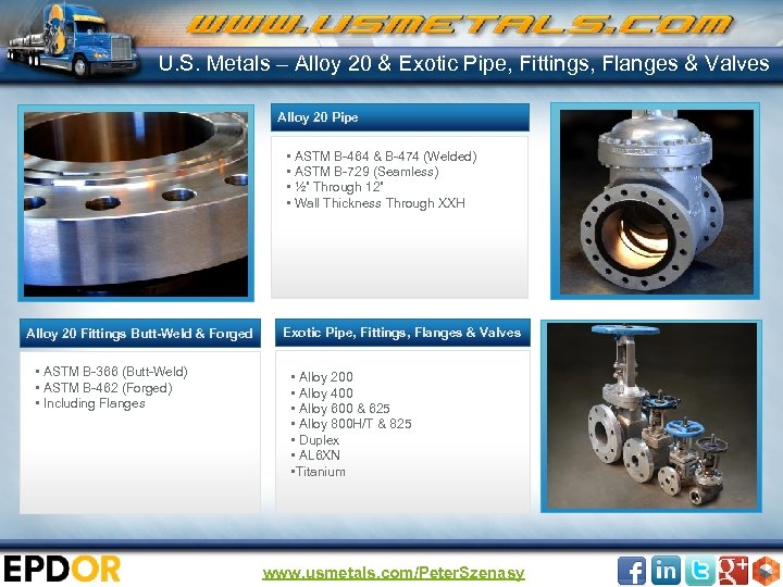 U. S. Metals – Alloy 20 & Exotic Pipe, Fittings, Flanges & Valves Alloy