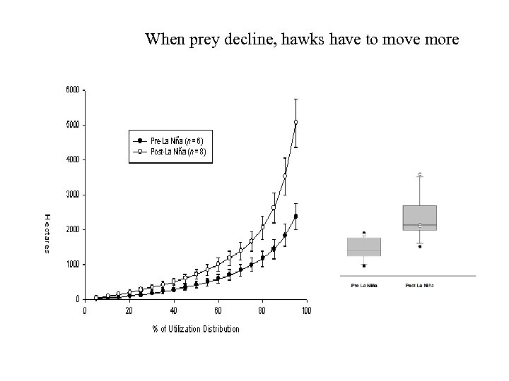 When prey decline, hawks have to move more