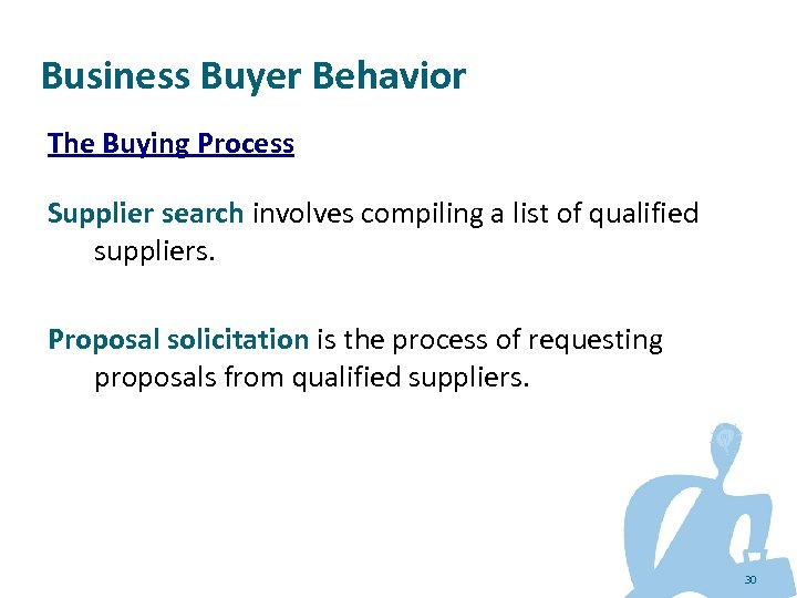 Business Buyer Behavior The Buying Process Supplier search involves compiling a list of qualified