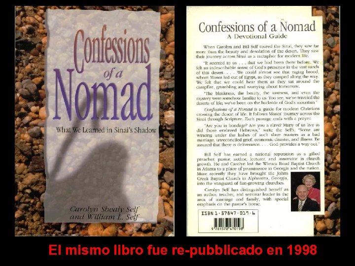 El mismo libro fue re-pubblicado en 1998