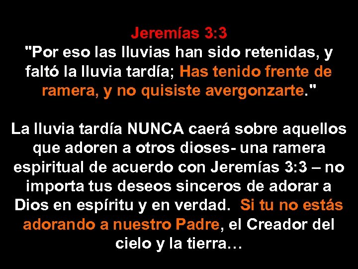 Jeremías 3: 3