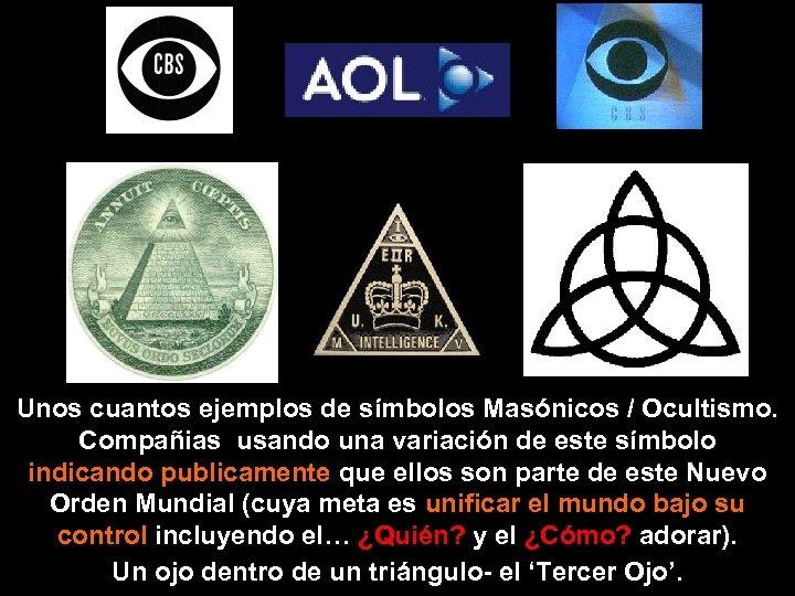 Unos cuantos ejemplos de símbolos Masónicos / Ocultismo. Compañias usando una variación de este