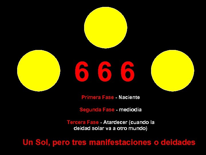 666 Primera Fase - Naciente Segunda Fase - mediodia Tercera Fase - Atardecer (cuando