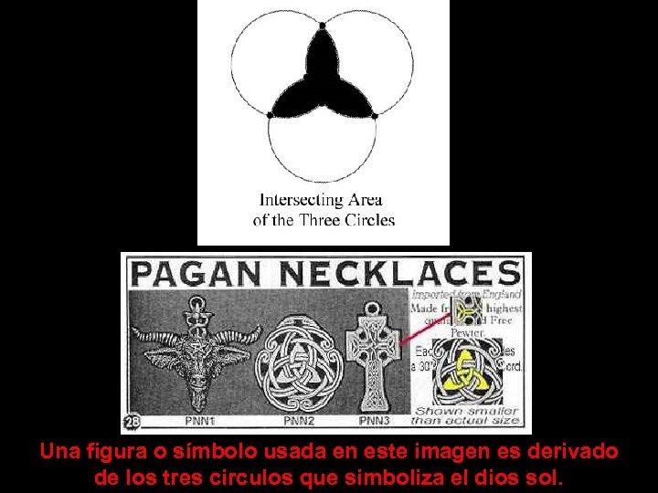Una figura o símbolo usada en este imagen es derivado de los tres circulos
