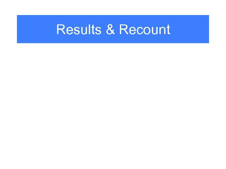 Results & Recount
