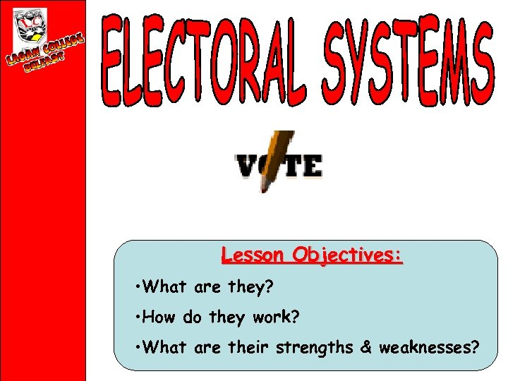 Lesson Objectives: • What are they? • How do they work? • What are