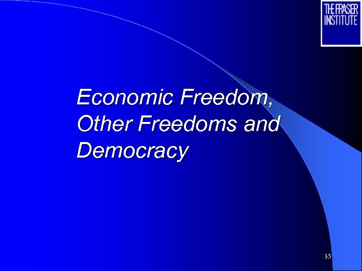 Economic Freedom, Other Freedoms and Democracy 35