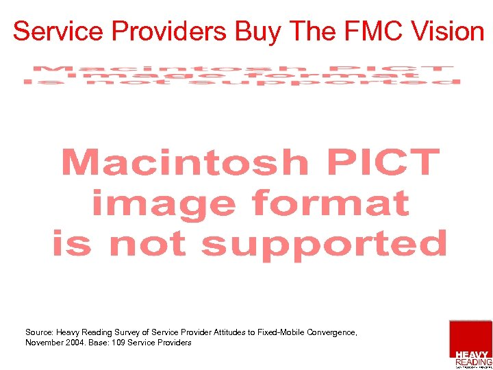 Service Providers Buy The FMC Vision Source: Heavy Reading Survey of Service Provider Attitudes