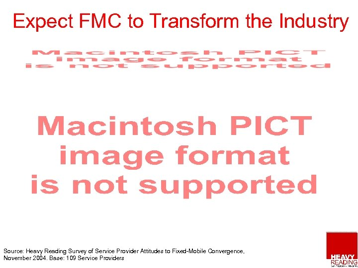 Expect FMC to Transform the Industry Source: Heavy Reading Survey of Service Provider Attitudes