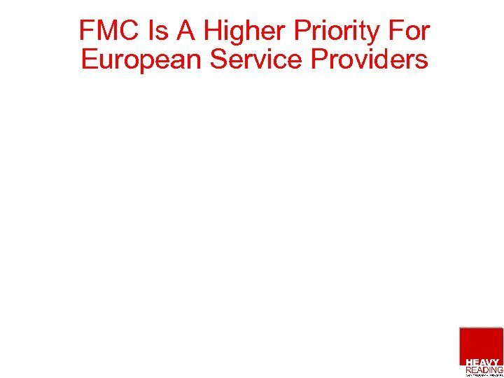FMC Is A Higher Priority For European Service Providers
