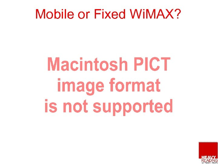 Mobile or Fixed Wi. MAX?
