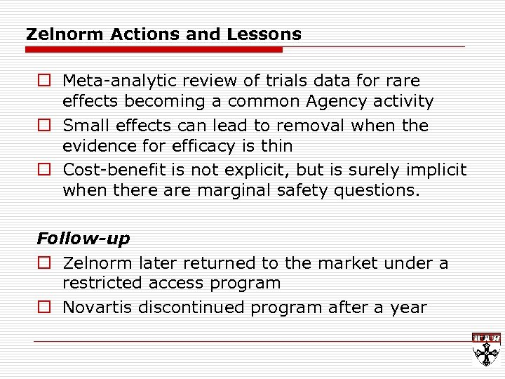 Zelnorm Actions and Lessons o Meta-analytic review of trials data for rare effects becoming