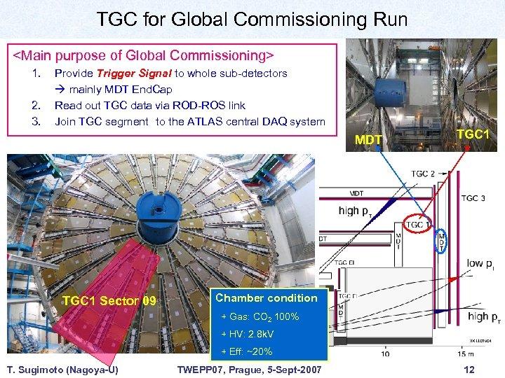 TGC for Global Commissioning Run <Main purpose of Global Commissioning> 1. 2. 3. Provide