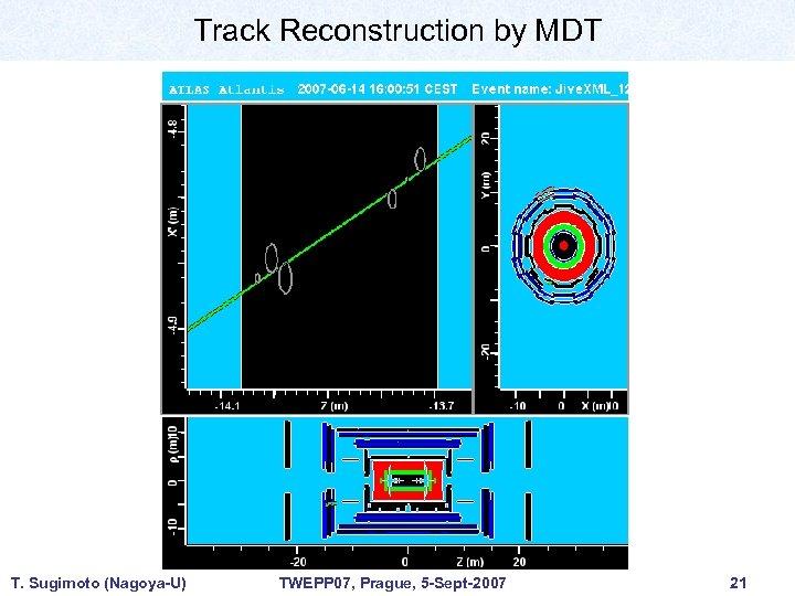 Track Reconstruction by MDT T. Sugimoto (Nagoya-U) TWEPP 07, Prague, 5 -Sept-2007 21
