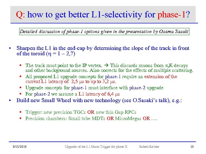 Q: how to get better L 1 -selectivity for phase-1? Detailed discussion of phase-1