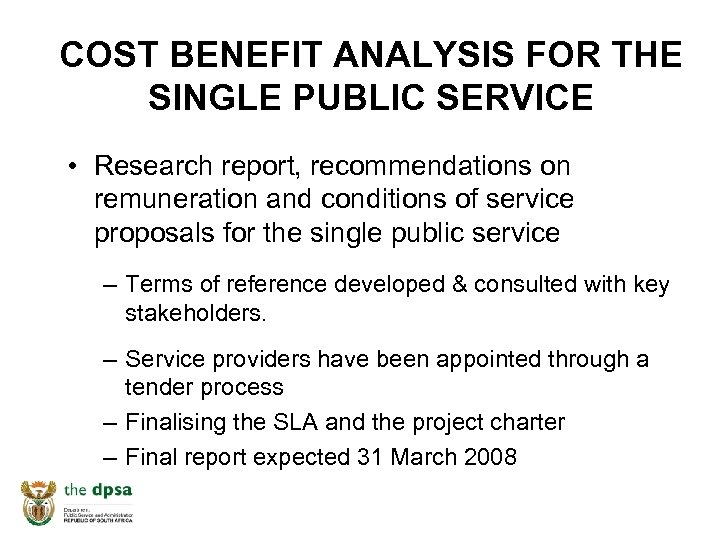 COST BENEFIT ANALYSIS FOR THE SINGLE PUBLIC SERVICE • Research report, recommendations on remuneration