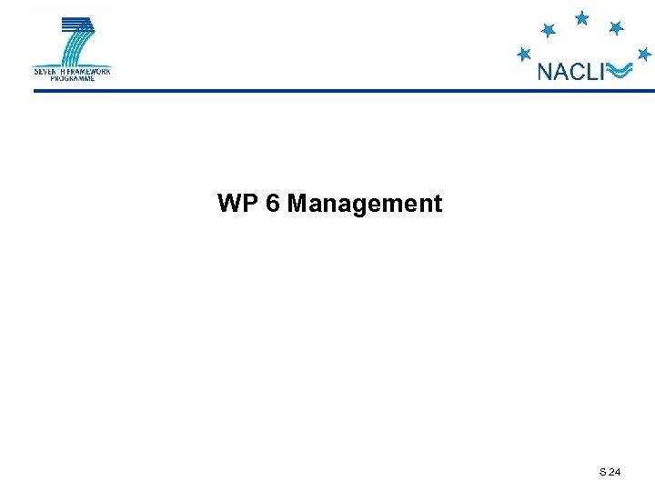 WP 6 Management S 24